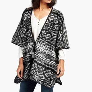 Lucky Brand Blanket Poncho ONE SIZE